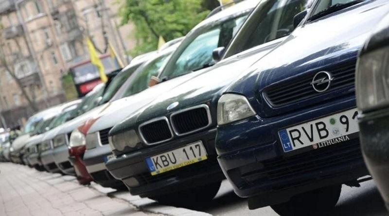 В Украине активно штрафуют собственников «евроблях»