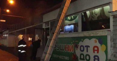 В центре Николаева полыхал магазин игрушек