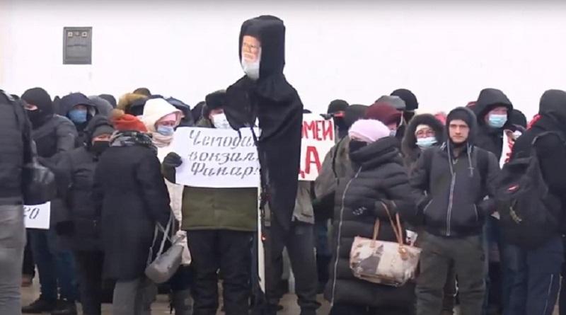 В Киеве сожгли чучело Вселенского Патриарха. ВИДЕО