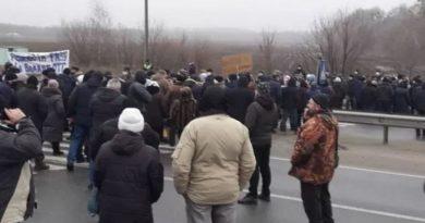 В Полтавской области протестующие перекрыли трассу Киев – Харьков
