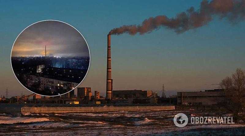 На мощнейшей в Украине Запорожской ТЭС произошла серьезная авария: города остались без света. Подробности, фото и видео ЧП