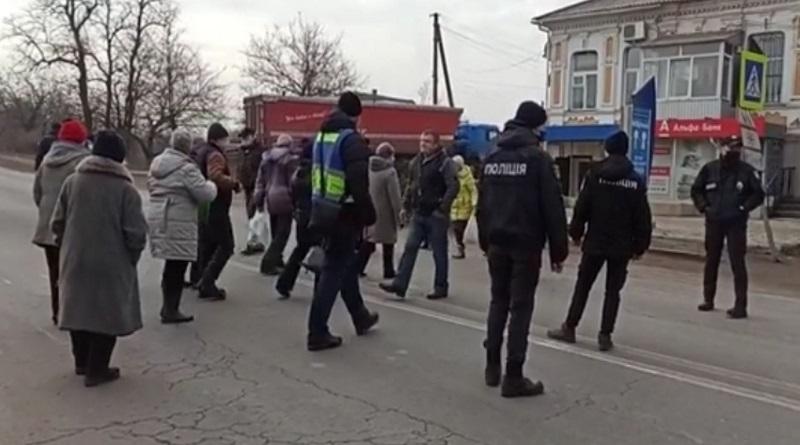 В Вознесенске жители перекрыли дорогу — протестуют против повышения тарифов
