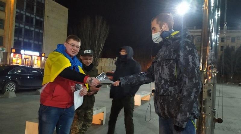 В Николаеве на акцию в поддержку Стерненко вышли 6 человек