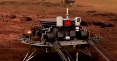 Китайский марсоход сошел с посадочной платформы и уже начал исследование Красной планеты