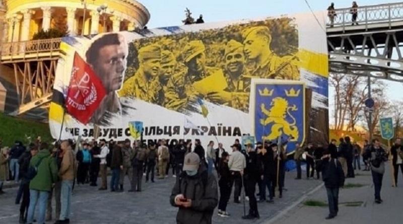 У Зеленского отреагировали на марш сторонников дивизии СС Галичина