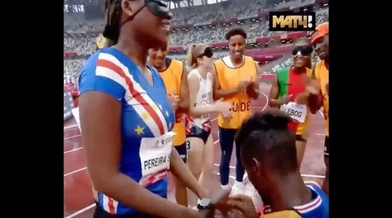 Незрячей легкоатлетке сделали предложение после забега на Паралимпиаде (видео)