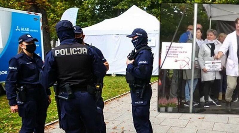 В Польше на протесте медиков мужчина покончил с собой