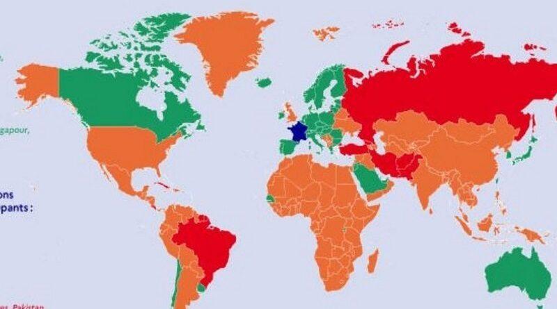 Франция запретит въезд непривитым от коронавируса украинцам