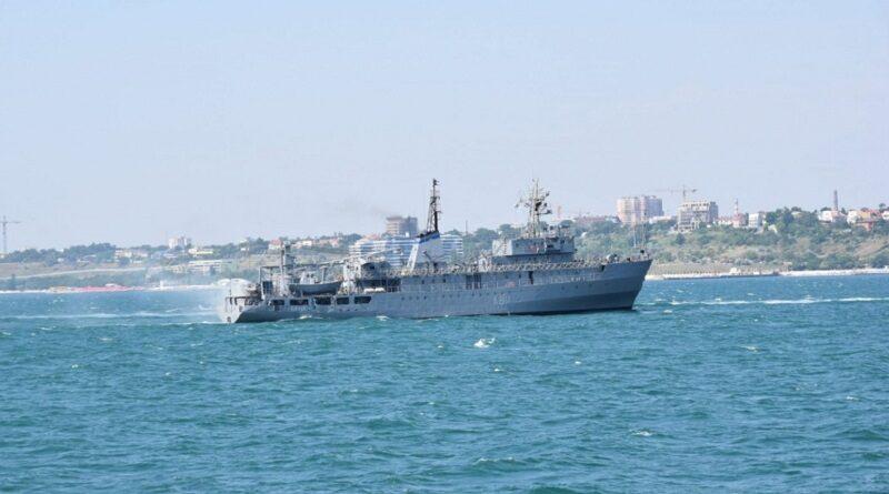 В Черном море терпит крушение корабль ВМС ВС Украины